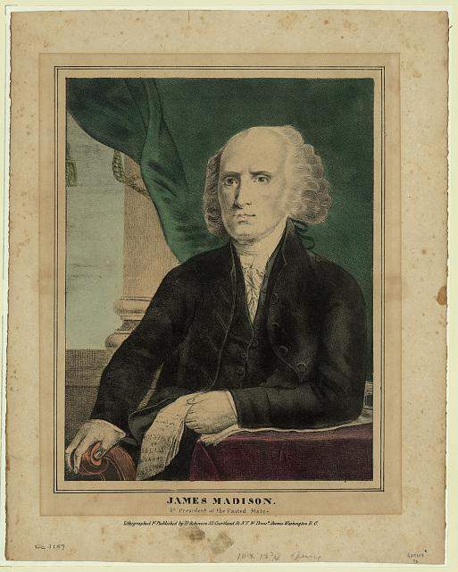 James Madison, 4th president of the United States
