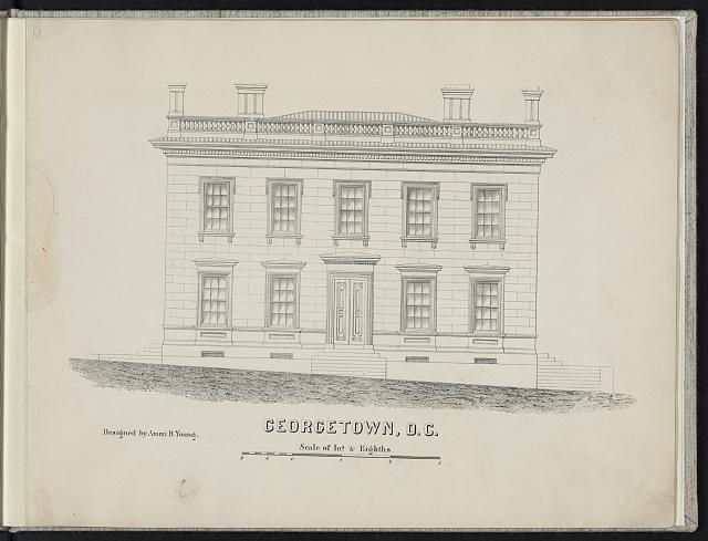 [Print speciman of custom house and post office, Georgetown, Washington, D.C.]
