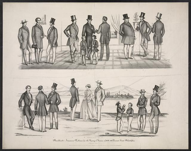 Shankland's American fashions for spring & summer of 1853, 100, Chesnut [sic] St. Philadelphia