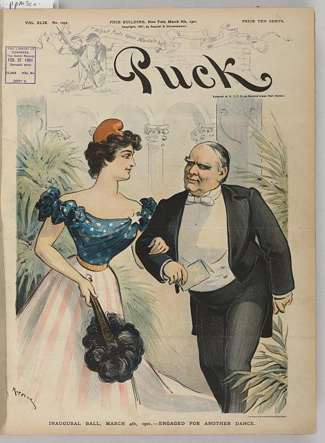 Inaugural ball, March 4th, 1901 - engaged for another dance