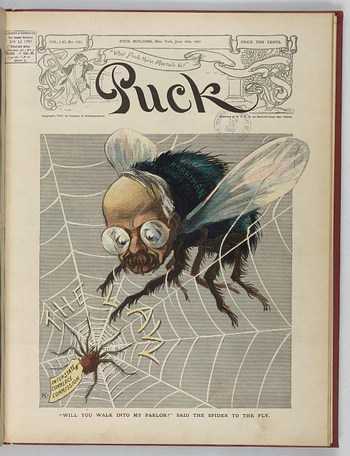 """Will you walk into my parlor?"" said the spider to the fly"