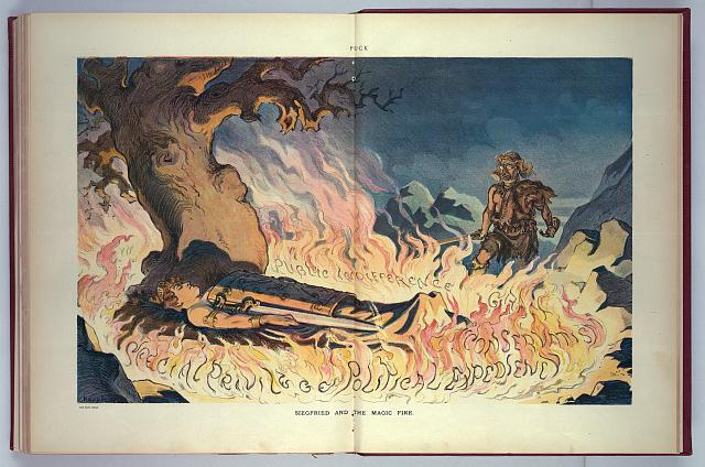 Siegfried and the magic fire