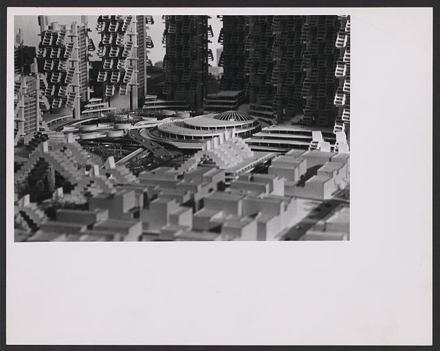 [Lower Manhattan Expressway, New York City. Model. Detail]