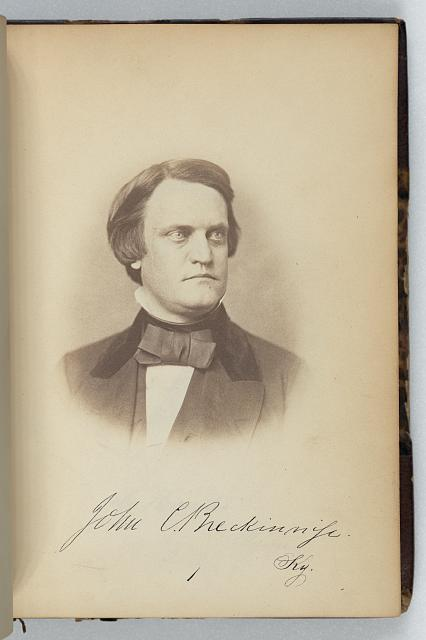 [J.C. Breckinridge, Senator from Kentucky, Thirty-fifth Congress, half-length portrait]