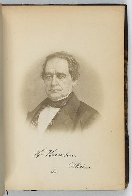 [Hannibal Hamlin, Senator from Maine, Thirty-fifth Congress, half-length portrait]