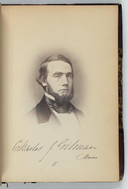 [Charles J. Gilman, Representative from Maine, Thirty-fifth Congress, half-length portrait]