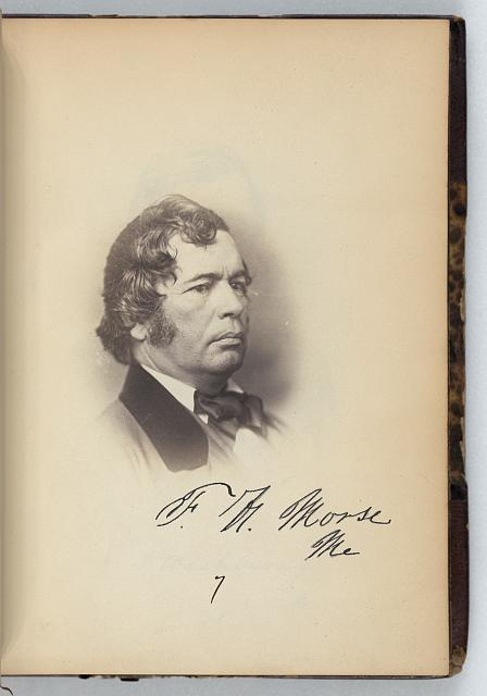 [Freeman H. Morse, Representative, from Maine, Thirty-fifth Congress, half-length portrait]