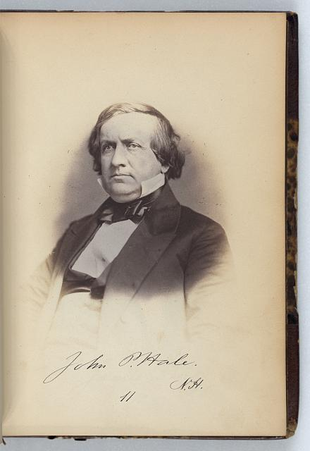 [John P. Hale, Senator from New Hampshire, Thirty-fifth Congress, half-length portrait]