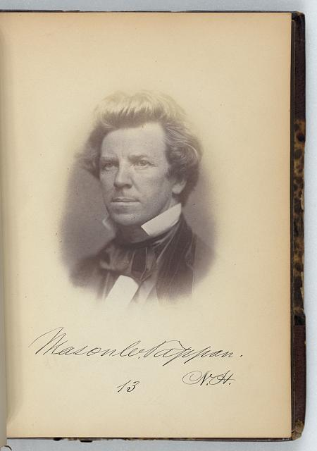 [Mason W. Tappan, Representative from New Hampshire, Thirty-fifth Congress, half-length portrait]