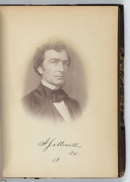 [Justin S. Morrill, Representative from Vermont, Thirty-fifth Congress, half-length portrait]
