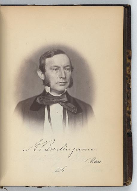 [Anson Burlingame, Representative from Massachusetts, Thirty-fifth Congress, half-length portrait]