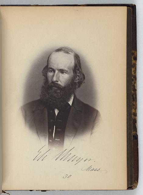 [Eli Thayer, Representative from Massachusetts, Thirty-fifth Congress, half-length portrait]