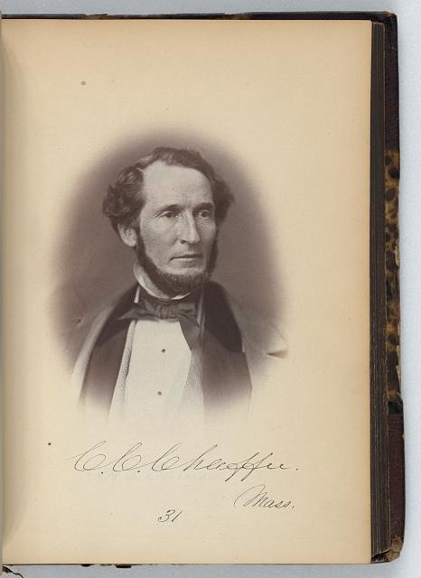 [Calvin C. Chaffee, Representative from Massachusetts, Thirty-fifth Congress, half-length portrait]