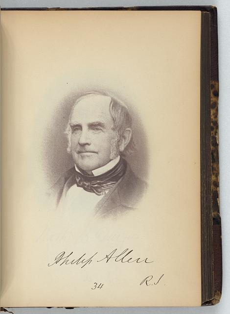[Philip Allen, Senator from Rhode Island, Thirty-fifth Congress, half-length portrait]