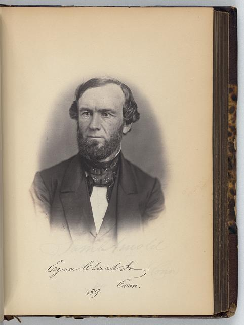 [Ezra Clark, jr., Representative from Connecticut, Thirty-fifth Congress, half-length portrait]