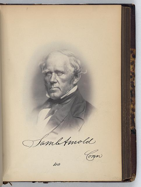 [Samuel Arnold, Representative from Connecticut, Thirty-fifth Congress, half-length portrait]