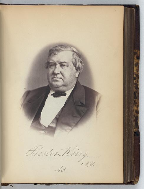 [Preston King, Senator from New York, Thirty-fifth Congress, half-length portrait]