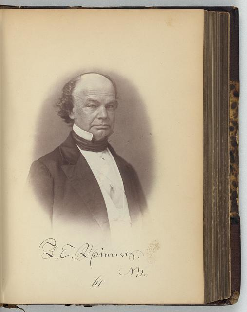 [Francis E. Spinner, Representative from New York, Thirty-fifth Congress, half-length portrait]