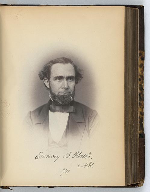 [Emory B. Pottle, Representative from New York, Thirty-fifth Congress, half-length portrait]