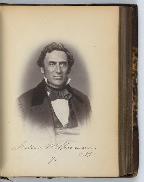 [Judson W. Sherman, Representative from New York, Thirty-fifth Congress, half-length portrait]