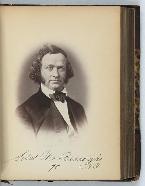 [Silas M. Burroughs, Representative from New York, Thirty-fifth Congress, half-length portrait]