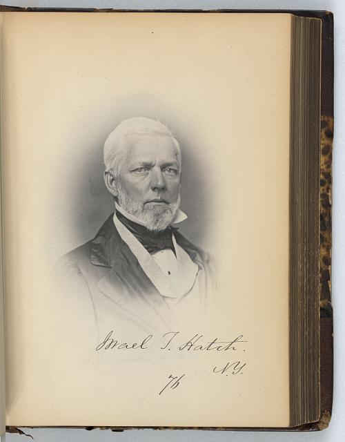 [Israel T. Hatch, Representative from New York, Thirty-fifth Congress, half-length portrait]