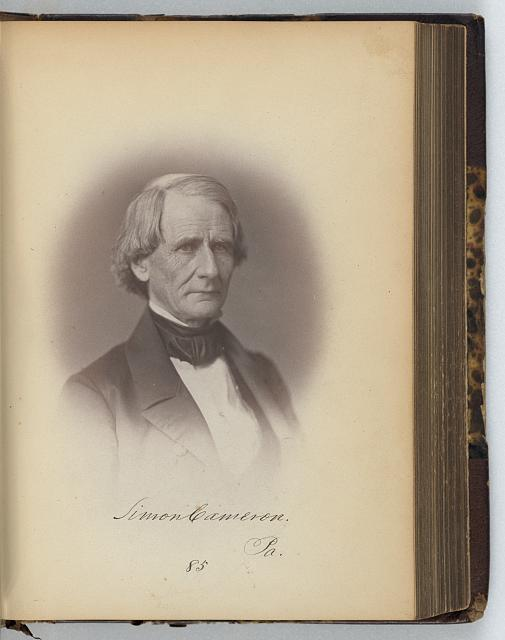 [Simon Cameron, Senator from Pennsylvania, Thirty-fifth Congress, half-length portrait]