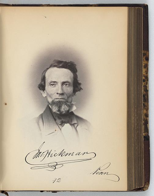 [John Hickman, Representative from Pennsylvania, Thirty-fifth Congress, half-length portrait]