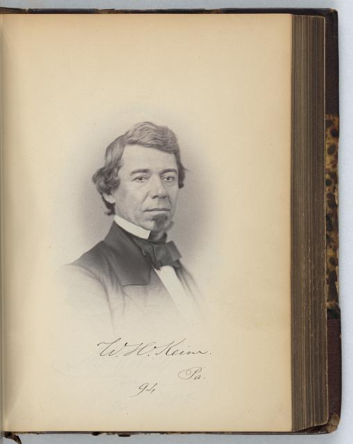 [William H. Keim, Representative from Pennsylvania, Thirty-fifth Congress, half-length portrait]