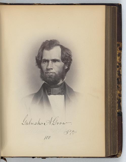 [Galusha A. Grow, Representative from Pennsylvania, Thirty-fifth Congress, half-length portrait]