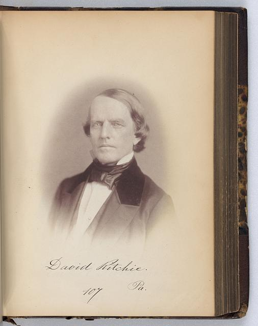 [David Ritchie, Representative from Pennsylvania, Thirty-fifth Congress, half-length portrait]