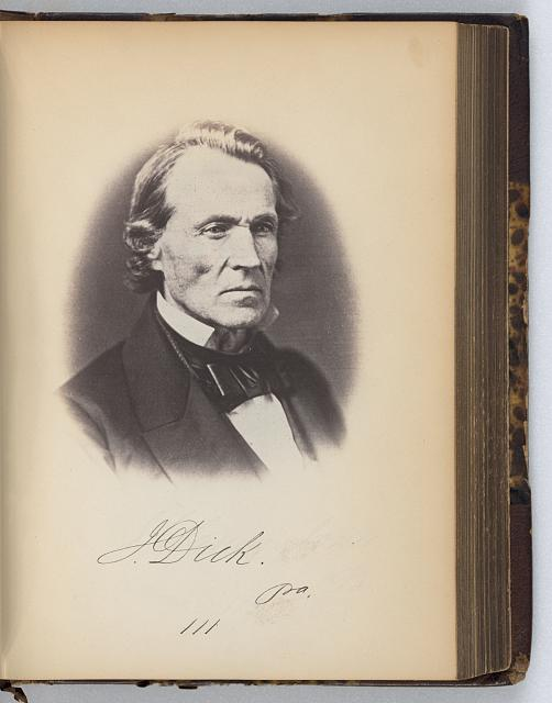 [John Dick, Representative from Pennsylvania, Thirty-fifth Congress, half-length portrait]