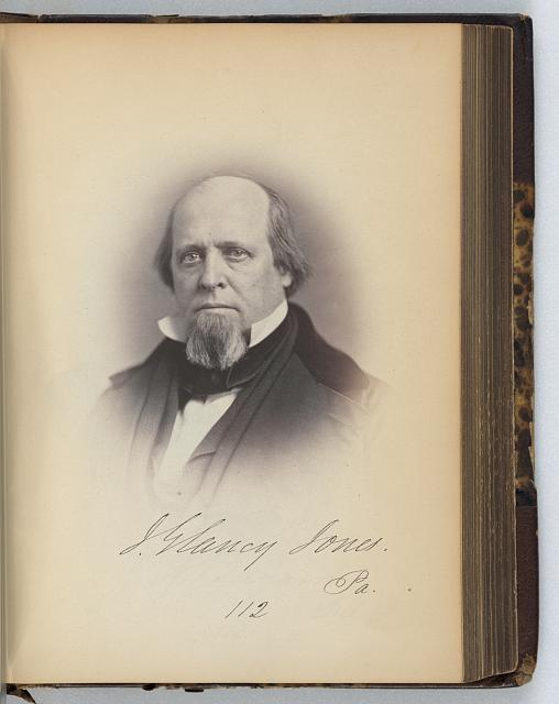 [J. Glancy Jones, Representative from Pennsylvania, Thirty-fifth Congress, half-length portrait]