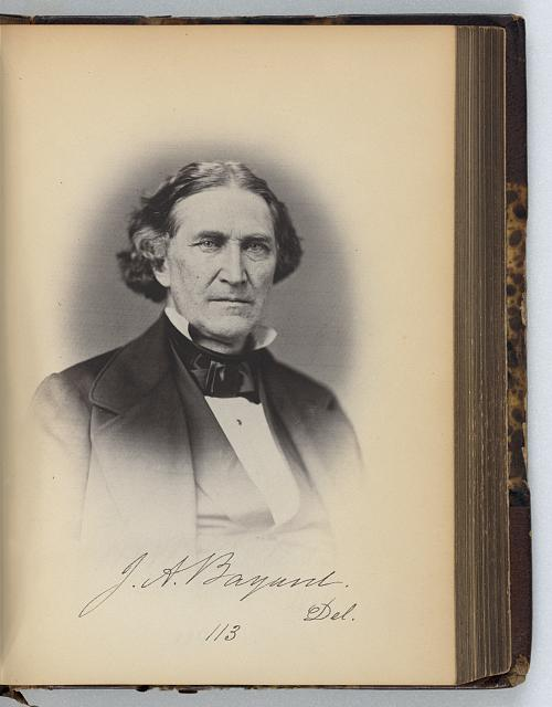 [James A. Bayard, Senator from Delaware, Thirty-fifth Congress, half-length portrait]