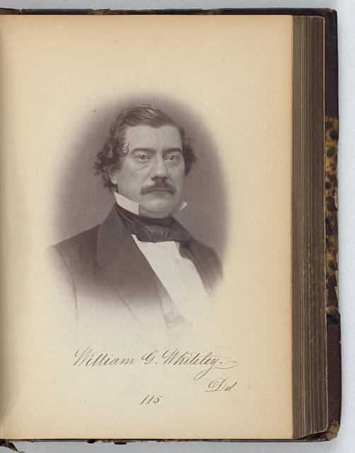 [William G. Whiteley, Representative from Delaware, Thirty-fifth Congress, half-length portrait]