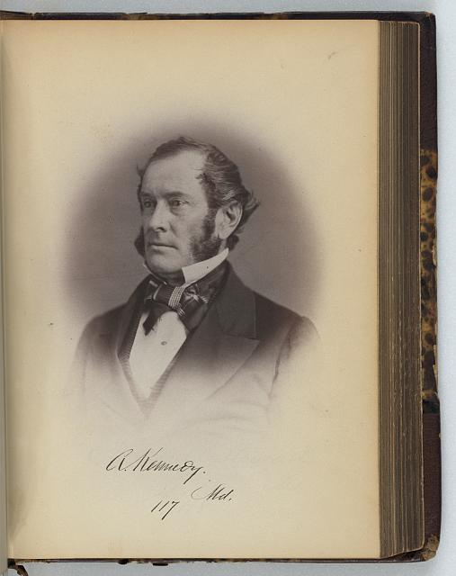 [Anthony Kennedy, Senator from Maryland, Thirty-fifth Congress, half-length portrait]