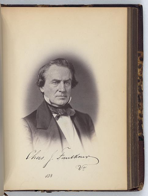 [Charles J. Faulkner, Representative from Virginia, Thirty-fifth Congress, original signature]