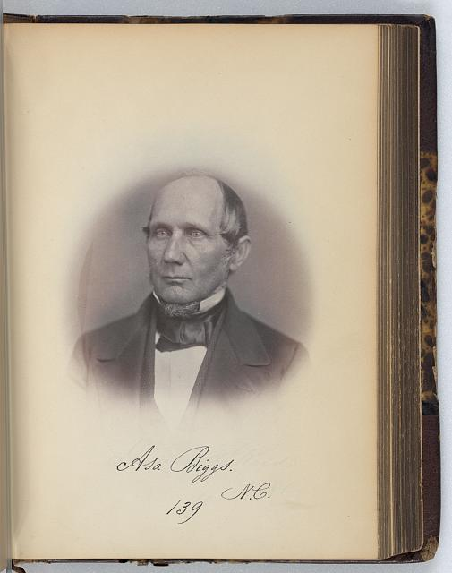 [Asa Biggs, Senator from North Carolina, Thirty-fifth Congress, half-length portrait]