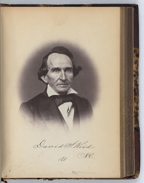 [D.S. Reid, Senator from North Carolina, Thirty-fifth Congress, half-length portrait]