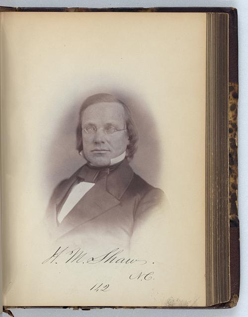 [Henry M. Shaw, Representative from North Carolina, Thirty-fifth Congress, half-length portrait]