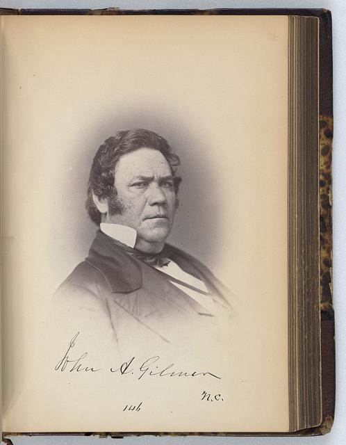 [John A. Gilmer, Representative from North Carolina, Thirty-fifth Congress, half-length portrait]