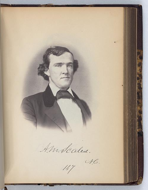 [Alfred M. Scales, Representative from North Carolina, Thirty-fifth Congress, half-length portrait]
