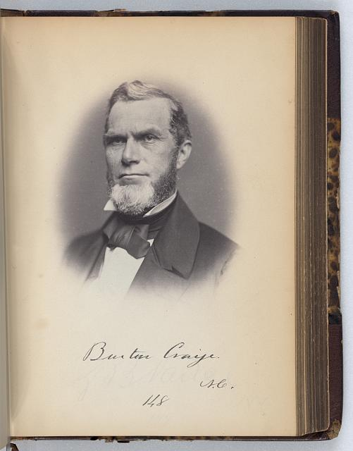[Burton Craige, Representative from North Carolina, Thirty-fifth Congress, half-length portrait]