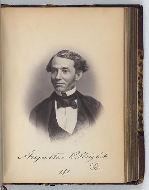 [Augustus R. Wright, Representative from Georgia, Thirty-fifth Congress, half-length portrait]