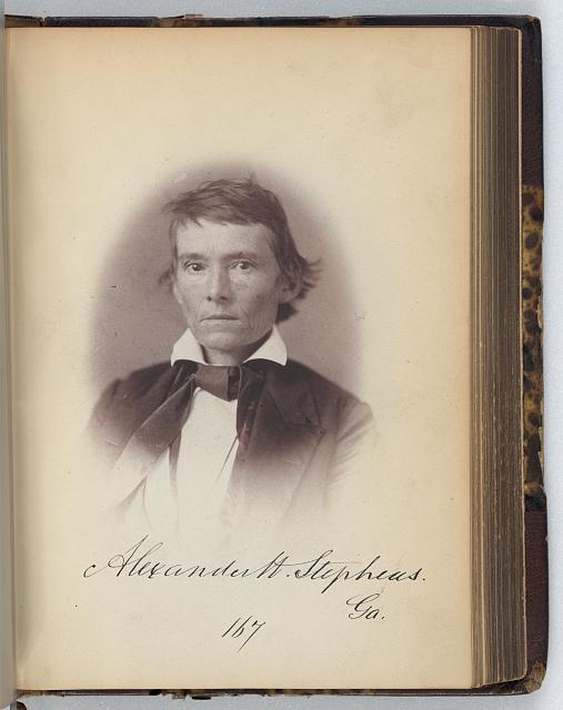 [Alexander H. Stephens, Representative from Georgia, Thirty-fifth Congress, half-length portrait]