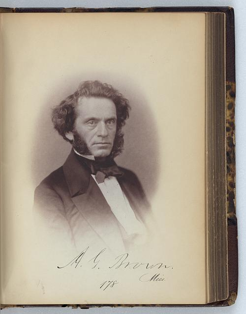 [Albert G. Brown, Senator from Mississippi, Thirty-fifth Congress, half-length portrait]