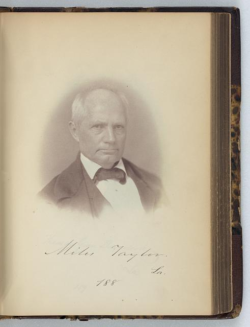 [Miles Taylor, Representative from Louisiana, Thirty-fifth Congress, half-length portrait]