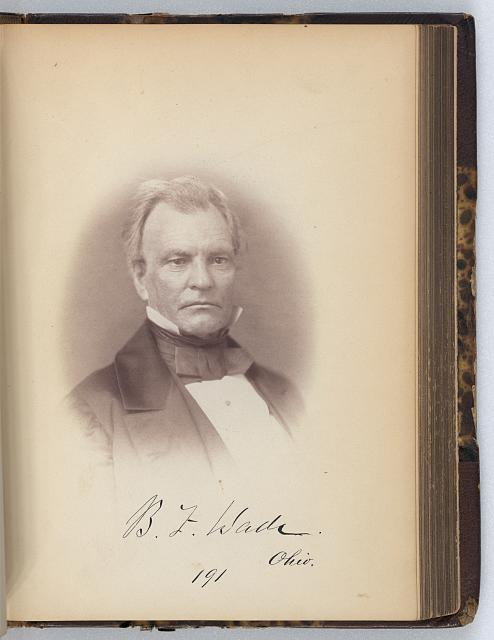 [Benjamin F. Wade, Senator from Ohio, Thirty-fifth Congress, half-length portrait]