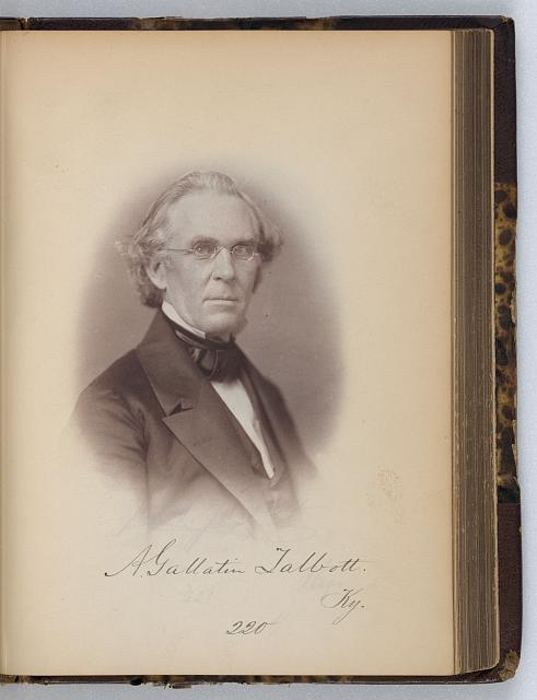 [Albert G. Talbott, Representative from Kentucky, Thirty-fifth Congress, half-length portrait]
