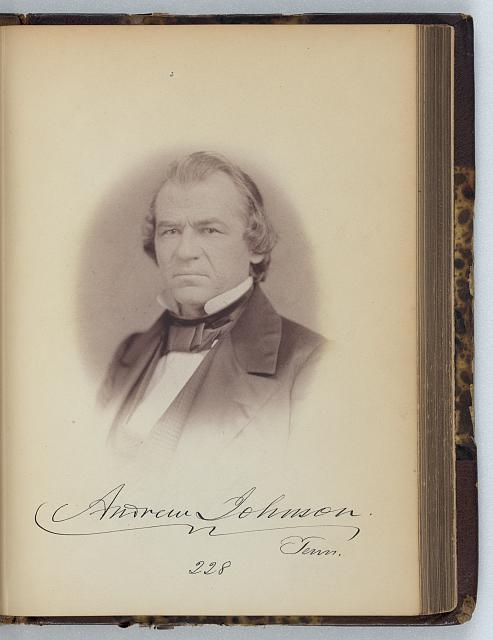 [Andrew Johnson, Senator from Tennessee, Thirty-fifth Congress, half-length portrait]